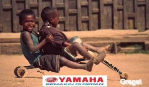 Funny wooden wheel children from Africa
