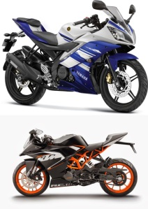 Yamaha-YZF-R15-Vs ktm rc200