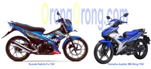 Satria FU 150 VS Yamaha jupiter MX king 150