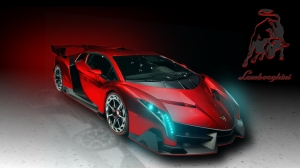 Lamborghini-Veneno-Red-Art-HD-Wallpaper