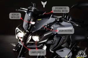 headlamp yamaha mt10
