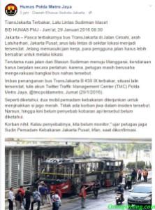 bus trans jakarta terbakar