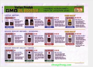 harga oil booster