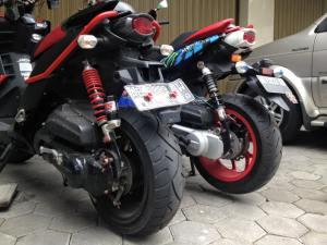 yamaha x-ride modifikasi ban besar 3
