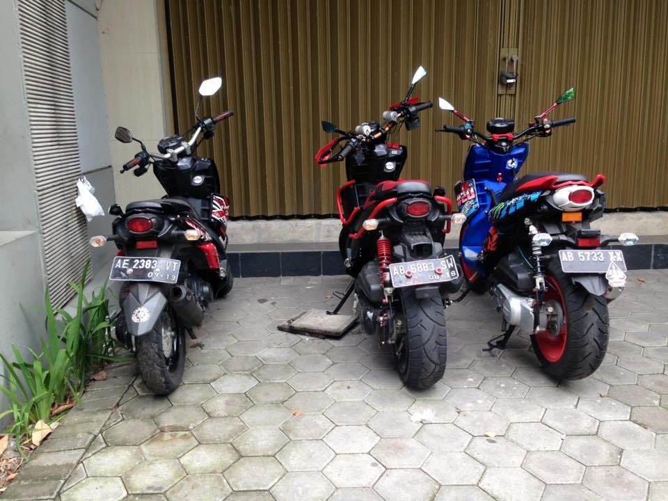 yamaha x ride modifikasi ban besar 4