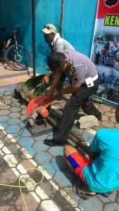 motor modif di musnahkan polisi