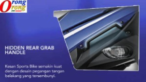 rear grab yamaha aerox 125 lc