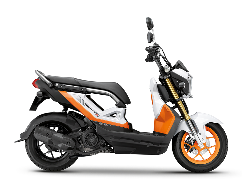 honda zoomer X 2017 industrial orange