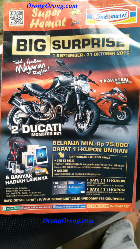 indomaret hadiah ducati monster 821