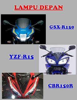komparasi-lampu-depan-suzuki-gsx-r150-vs-honda-cbr150r-vs-yamaha-r15