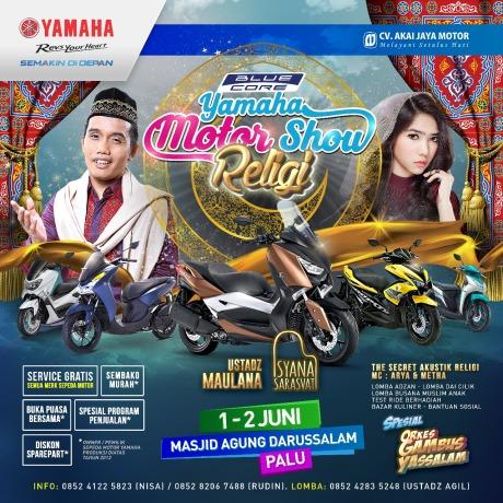 Blue Core Yamaha Motor Show (BYMS) di Palu Sulawesi Tengah